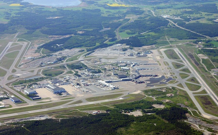 Aerial view of Stockholm Airport
