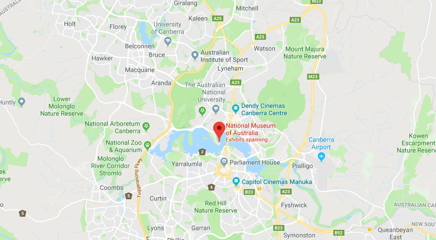 Map of National Museum - Canberra