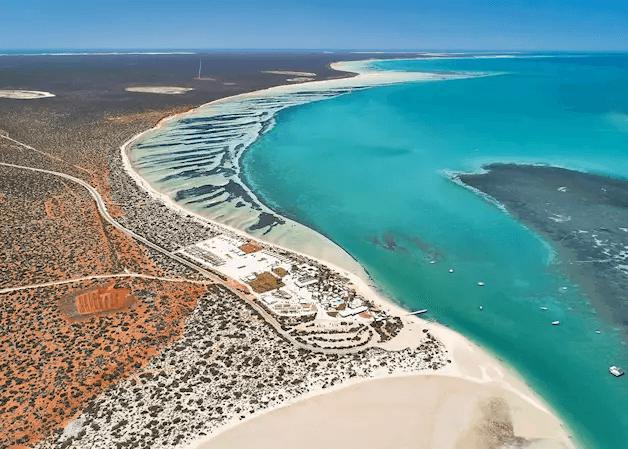 arial view of monkey mia dolphin resort - Western Australia