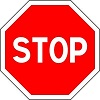 French Stop Sign